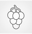 grape icon sign symbol vector image vector image