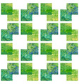 green acrylic seamless pattern retro background vector image