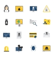 Hacker Icons Flat vector image