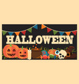 halloween promotional poster vector image vector image