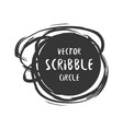 hand drawn scribble circle and label with vector image