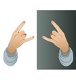 Hand with a hip-hop YO gesture vector image vector image
