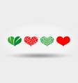 hearts set icon flat design vector image