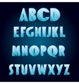 Ice age alphabet vector image