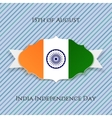 india independence day paper badge vector image