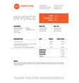 invoice template vector image