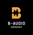 letter b and audio logo vector image