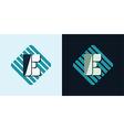 letter E emblem vector image