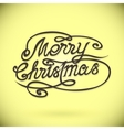 MERRY CHRISTMAS hand letteringcustom handmade vector image vector image