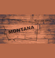 montana map brand vector image vector image
