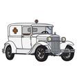 Old ambulance vector image vector image