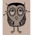 original modern cute ornate doodle fantasy owl vector image vector image