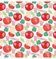 pattern with fresh tomatoes slices tomato vector image vector image