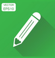 pencil icon business concept pencil pictogram on vector image vector image
