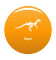 raptor icon orange vector image