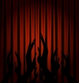 red velum and applouse vector image vector image