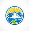 rocky mountain landscape logo vector image vector image