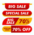 sale banner collection website stickers color vector image vector image