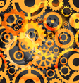 Seamless background or different gear wheels vector image vector image
