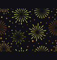 seamless pattern with fireworks vector image