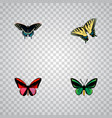 set of beauty realistic symbols with agrias vector image