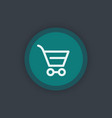 shopping cart line icon pictogram for website vector image