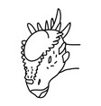 stygimoloch icon doodle hand drawn or black vector image