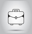 suitcase box icon in line style on isolated vector image vector image