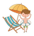 summer and kids cartoon vector image