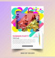 summer flyer template vector image vector image