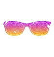 Summer sunglasses design vector image vector image
