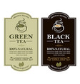 tea labels set vector image