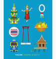 Thailand Traditional and Culture Objects Set vector image vector image