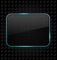 Transparent aluminum frame background vector image vector image