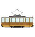vintage tram vector image