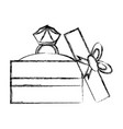 wedding ring gift box vector image vector image