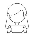 woman adult young vector image vector image