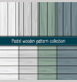 wooden pattern collection vector image
