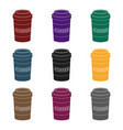disposable coffee cup icon in black style isolated vector image
