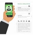 Medical consultation online vector image