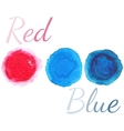 Watercolor circles set isolated on white vector image