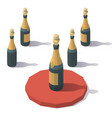 low poly sparkling wine vector image