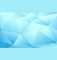 abstract blue polygonal and crystal background vector image vector image