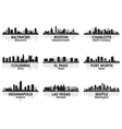 American cities skyline set 2 vector | Price: 1 Credit (USD $1)