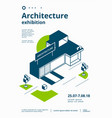 architecture exhibition cover vector image