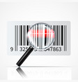 bar code magnifier realistic vector image