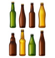Blank beer bottles colored glass containers