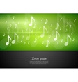 Bright music background vector image