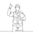 building constructor concept single line drawing vector image vector image
