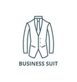 business suit line icon business suit vector image vector image